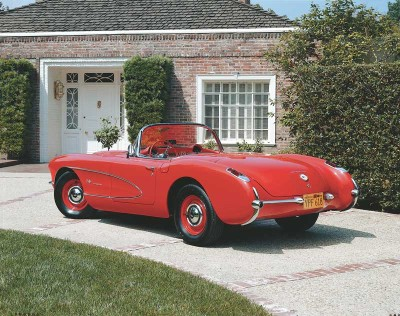 The 1957 Corvette featured a V-8 enlarged to 283 cubic inches and offered in five versions.