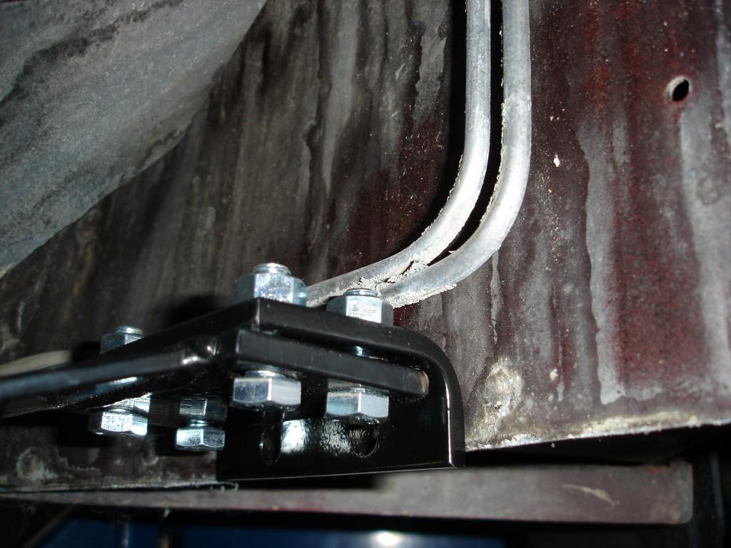 C Body Brace Installation on 1986 Corvette Fuel Filter