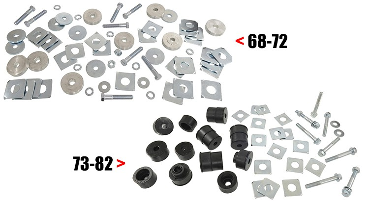 body mount install kits