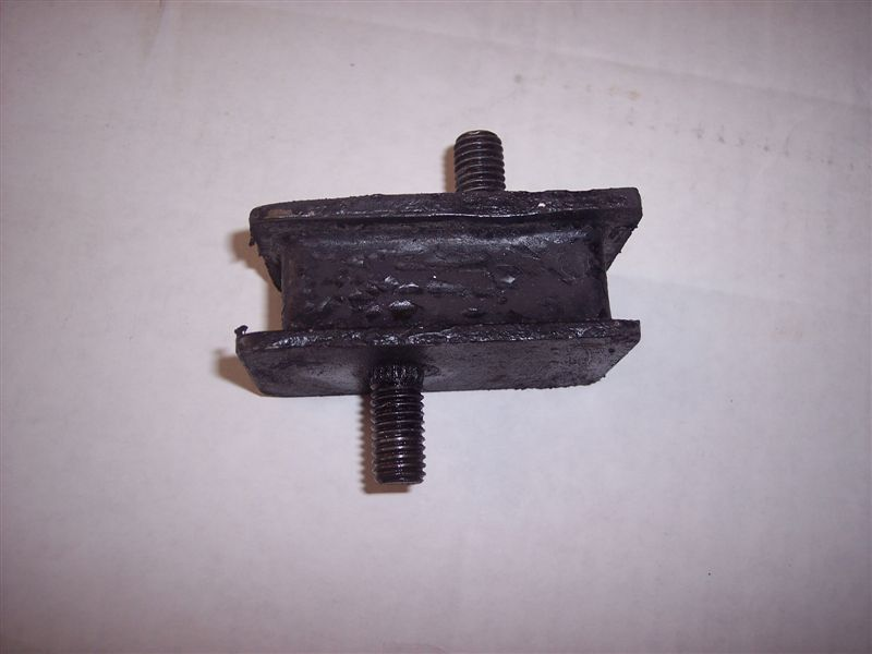 Mopar motor mounts circa 1968 big big block engine (e.g. Charger 440) use these sandwich style mounts.