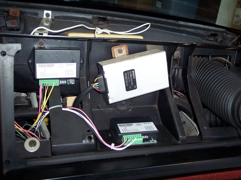 Dakota Digital speedometer and tachometer signal converters were used to calibrate and correct the speedometer reading.