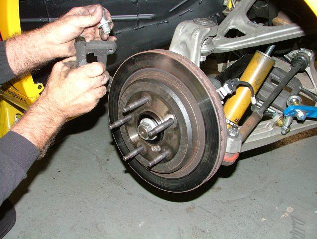 install rotor and caliper